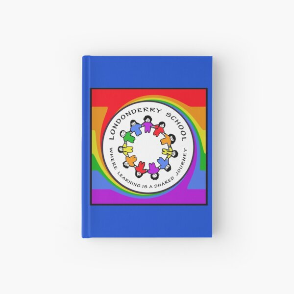 Londonderry Original Logo with Rainbow Swirl Hardcover Journal
