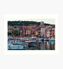 Cassis, French Riviera, in the Summer at Dusk Art Print