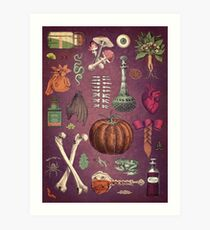Collage Basic Ingredients for a Witch Art Print