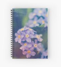 Forget Me Not Spiral Notebook