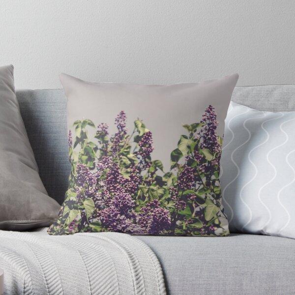 Wild Lilacs Throw Pillow