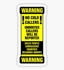 No Cold Callers Sticker