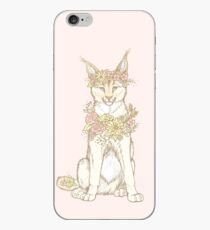 Floral Caracal iPhone Case