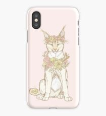 Floral Caracal iPhone Case/Skin