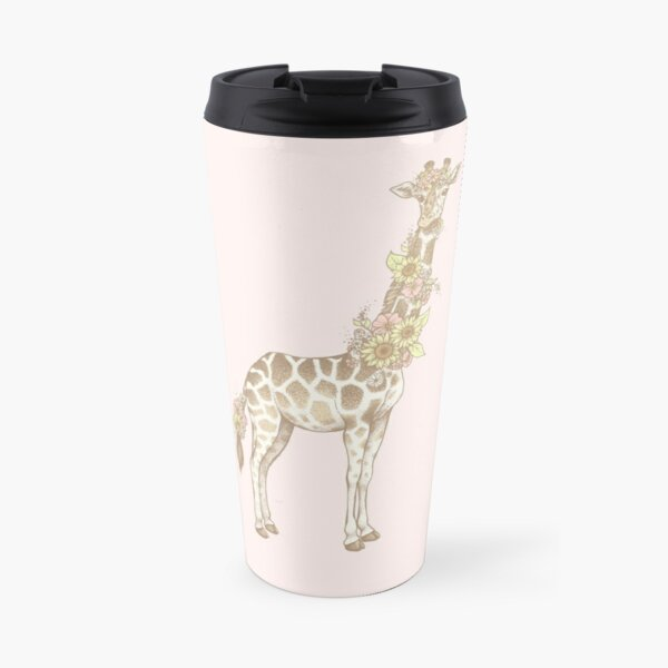Floral Giraffe Travel Mug