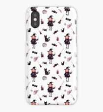 Little Witch Pattern iPhone Case