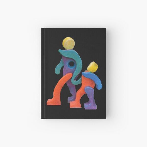 Joyful Spirit on Variety of Colored Backgrounds Hardcover Journal