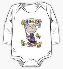 Wave that flag Charlie Brown One Piece - Long Sleeve