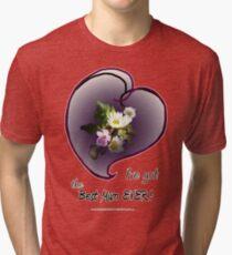 wildflower, Best Mum EVER! heart Tri-blend T-Shirt