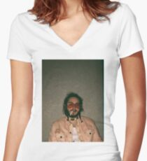 Post Malone Women's Fitted V-Neck T-Shirt
