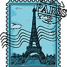 Paris Stamp - Blue by pda1986