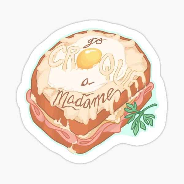 Croque Stickers Redbubble