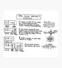 Maxwells Gleichungen [Licht] Fotodruck
