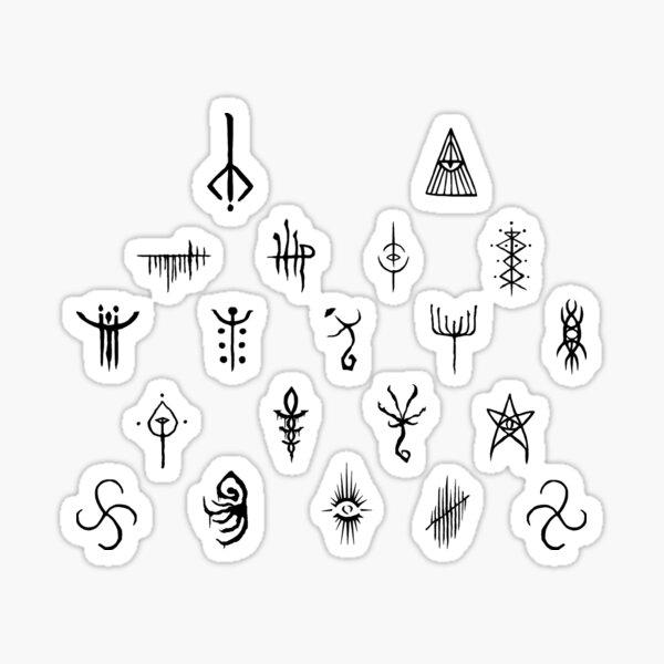 Bloodborne Runes (Black) Sticker