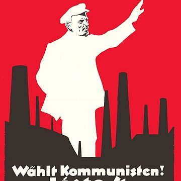 Soviet Russia German Communist Propaganda Poster - Lenin is showing the way! (1928`s) by RemoKurka