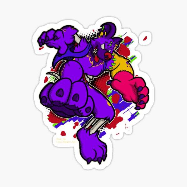 Halloween wild dog zombie Sticker