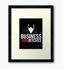 Business Time Framed Print