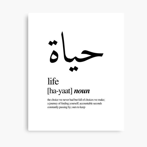 Hayaat // Life Canvas Print