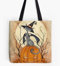 Witchy Kitty Tote Bag