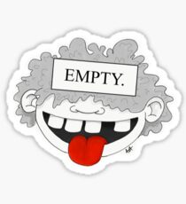 """EMPTY"" Sticker"