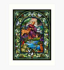 St. Francis Stained Glass Art Print