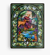 St. Francis Stained Glass Metal Print