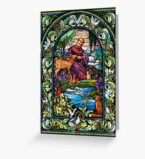 St. Francis Stained Glass Greeting Card