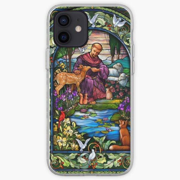 St. Francis Stained Glass iPhone Soft Case