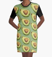 Avocado. color pencil Graphic T-Shirt Dress