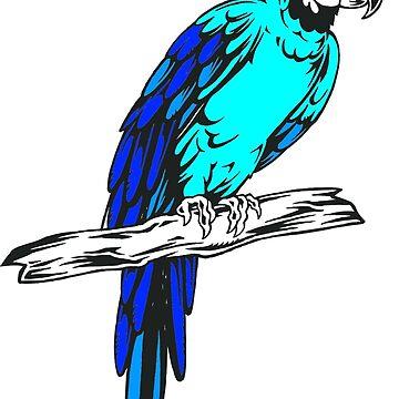 Macaw Parrot Sketch by birdsbirds