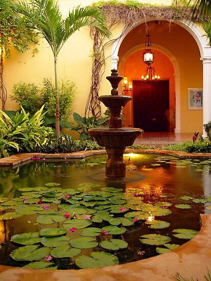 Fountain at Villa Merida by kuntaldaftary