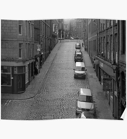 Corner of Windmill Brae and Bath Street, Aberdeen Poster