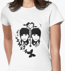 Black butterfly Women's Fitted T-Shirt