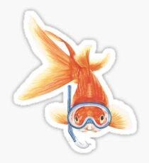 snorkeling Goldie Sticker