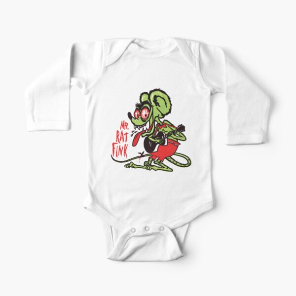 Mr. Rat Fink Long Sleeve Baby One-Piece
