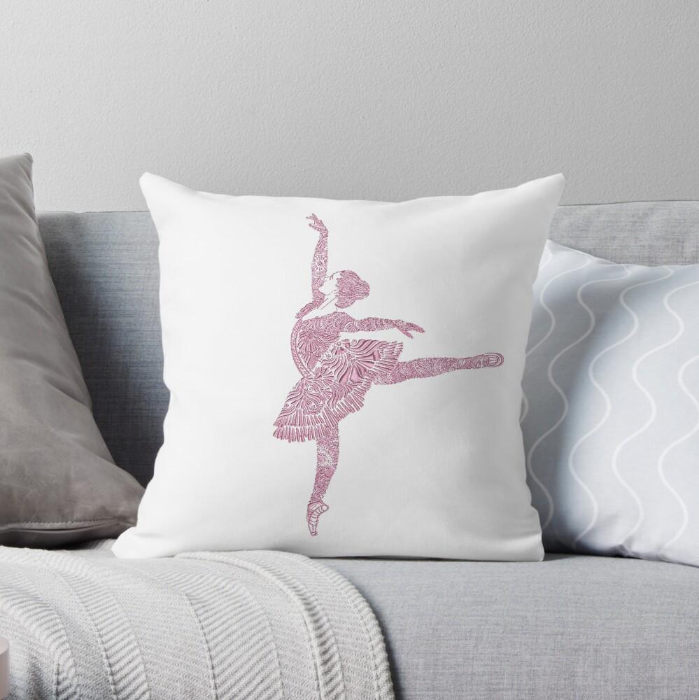 Ballet Dance - Designer Art Throw Pillow
