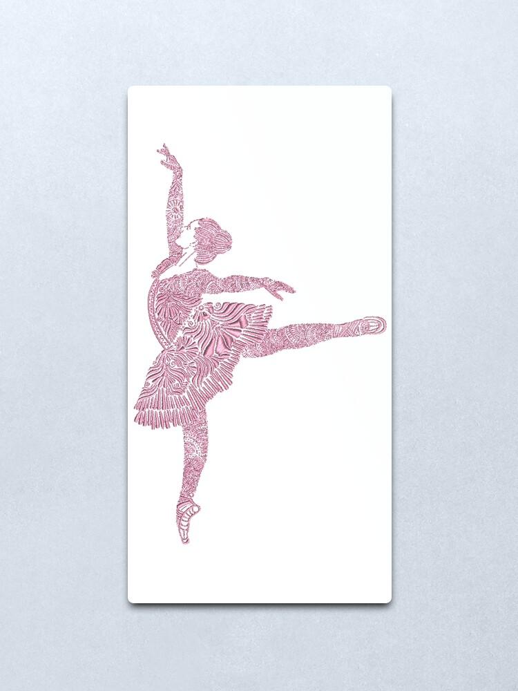 Alternate view of Ballet Dance - Designer Art Metal Print