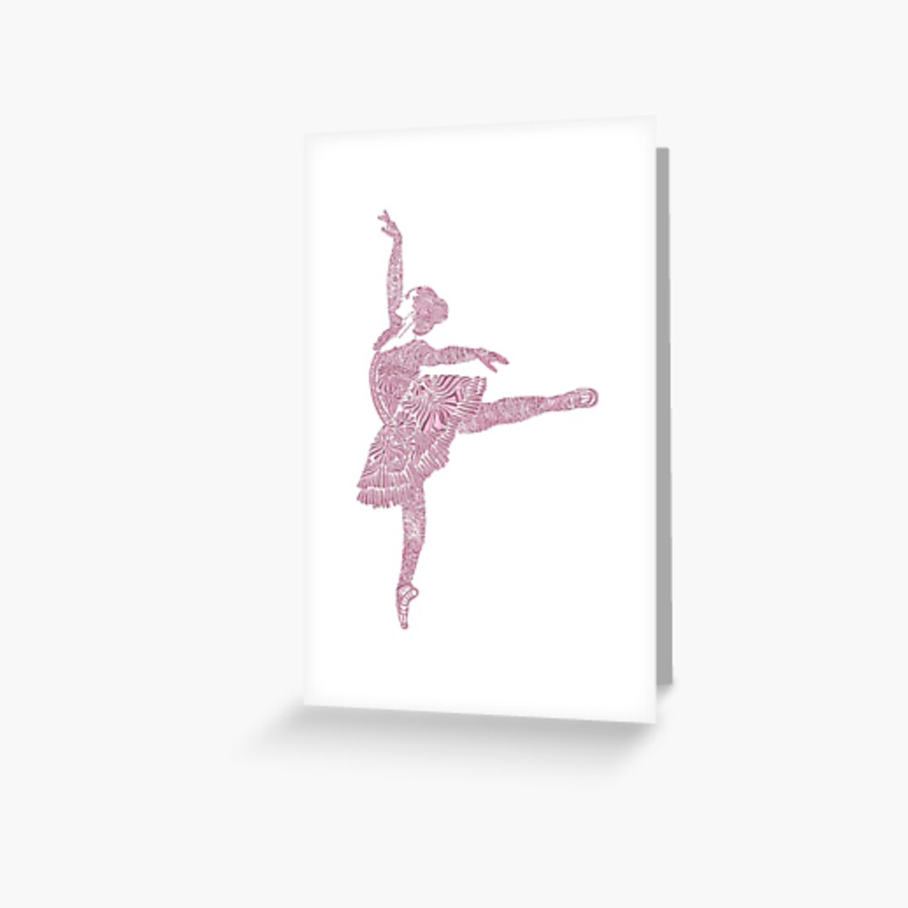 Ballet Dance - Designer Art Greeting Card