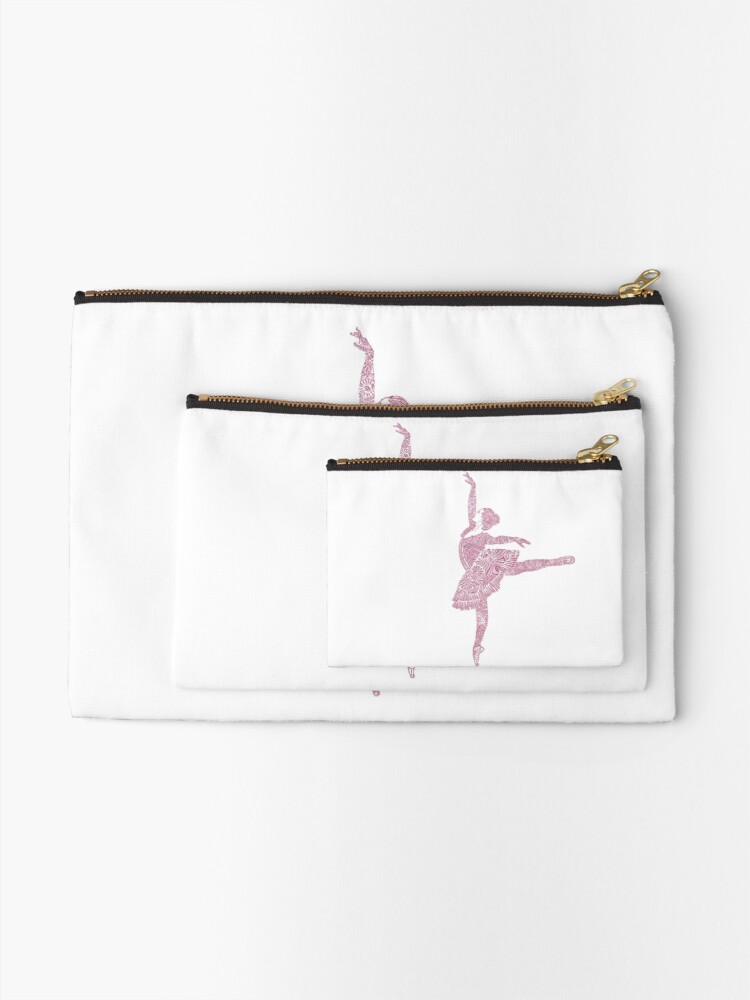 Alternate view of Ballet Dance - Designer Art Zipper Pouch