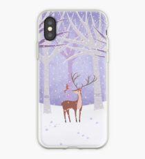 Deer - Squirrel - Winter - Snow - Forest iPhone Case