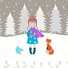 Girl - Fox - Winter by Cristina Bianco Design