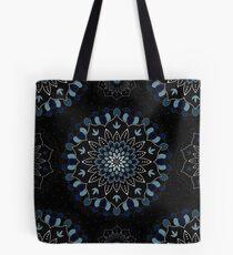 Black & Blue Mandalas Design Tote Bag