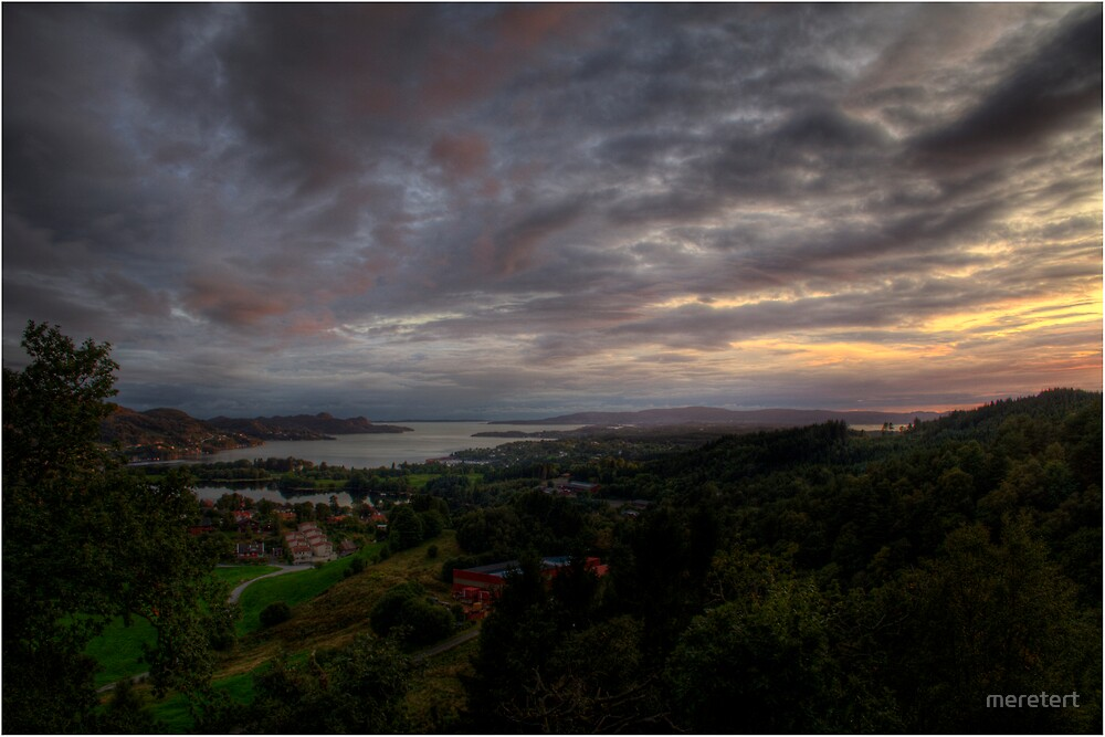 sunset by meretert