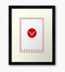 Code Geass | Logo | Justice will prevail v2 Framed Print