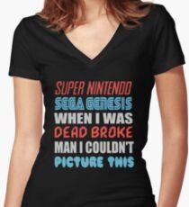 Dead Broke Women's Fitted V-Neck T-Shirt