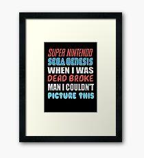 Dead Broke Framed Print