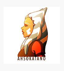 Star Wars   Ahsoka Tano   Commander Tano Photographic Print
