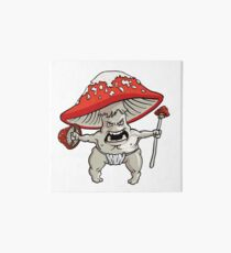 Mushroom Warrior Art Board Print