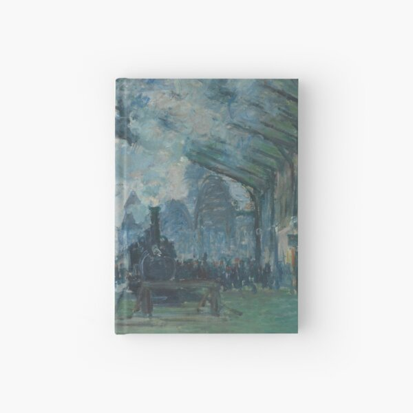 Arrival of the Normandy Train, Gare Saint-Lazare by Claude Monet Hardcover Journal