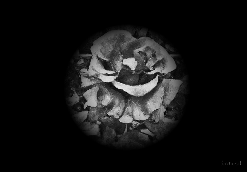 Black Rose - Painting Style - Black and White - Art Gift by iartnerd